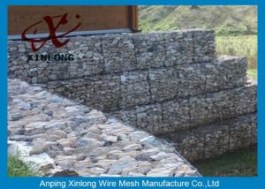 China Galfan Galvanized Gabion Box , Gabion Wall Baskets For Riverbed Garden on sale