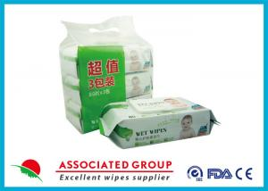 China Super Soft Baby Wet Tissue Biodegradable Natural Cotton Material18 * 20CM on sale
