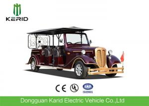 China Real Estate Used Electric Vintage Cars Red Royal Buggy 11 Seats Passenger Golf Carts on sale