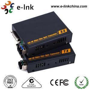 Quality DVI-D Video To Fiber Media Converter Multi Mode 350 Meters LC SFP Including 1 for sale