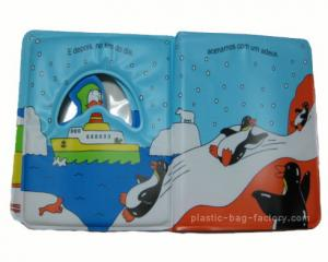 China Eco Friendly Baby Bath Books Happy Penguin Patterns Light Weight For Carrying on sale