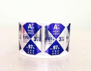 China Toothpaste Self Adhesive Labels Custom Size With Durable Offset Printing on sale