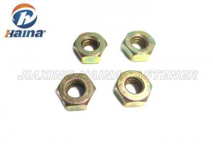 China Customized Carbon Steel Nuts Hexagonal Head With Yellow Zinc Finish DIN 934 on sale