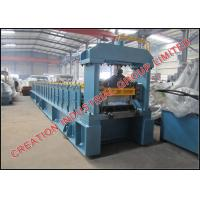 Steel / Aluminium Joint-hidden Roof Panel Roll Forming Machine with No.45 Forged Steel Rollers