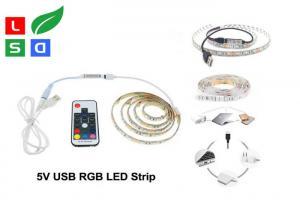 China CRI >80 LED Commercial Lights USB Plug Rgb Flexible LED Strip For TV Background on sale