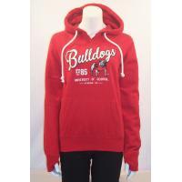 Custom Red organic Cotton Hooded Sweatshirt Long Sleeve for Sports , Running