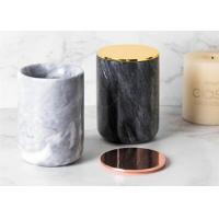 Top Polished Surface Natural Marble Stone Jar Black And White Color With veins