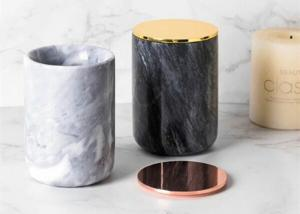 China Top Polished Surface Natural Marble Stone Jar Black And White Color With veins on sale
