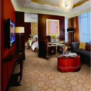 China Flat Wave Modern Home Carpet / Luxury Wall To Wall Carpet Antistatic Function on sale