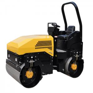 China 3T Driver Mini Roller Compactor Perkins Engine Poclain Motor And Sauer Pump 1.5ton on sale