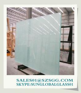 China A Grade Sliding Door Frosted Glass For Room Price on sale