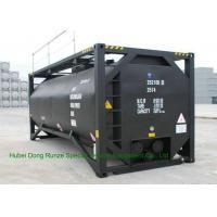 UN T3 Heating 20 Foot ISO Tank Container For Bitumen / Crude Oil / Low Hazardous Liquids