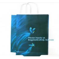 Gloss laminated portrait-shape strongly made reinforced top gloss white carrier bags in luxury finished, bagease package