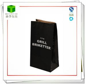 China Kraft packaging paper bag for Wood charcoal and coal on sale