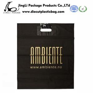 China Customized Degradable Die-Cut Plastic handle Bags with 0.12mm Thickness on sale