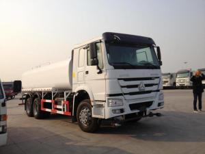 China Reliability 15m3 Water Tank Truck , Water Bowser Truck With 336HP Engine on sale