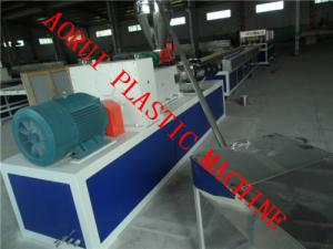 China PVC PP PE Wooden Plastic Profile Production Line , wood Composite Plastic Skirting Board Extruder on sale