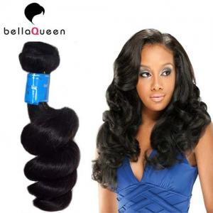 China Grade 7A Virgin Hair Natural Black Indian Virgin Hair Weaving For Loose Wave on sale
