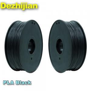 China 3D Printer Filament 1.75mm Black PLA 3D Filament 1kg Spool 2.2 lbs on sale