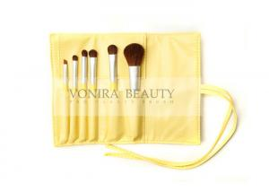 China Cute Yellow Christmas Makeup Brush Gift Set With Nature Soft Sable Hairs on sale