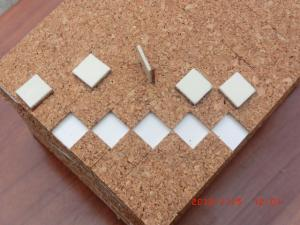 China Cork Pads with self-adhesive / Glass protection adhesive cork pads / spacer separator pads on sale