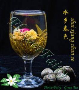 China Shui Xiang Chun Se Blooming Tea on sale