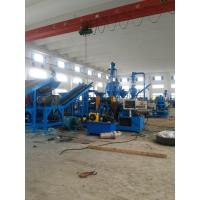 Blue High Efficiency Waste Tire Recycling Machine , Tyres Diameter Less Than 1.2 Meters