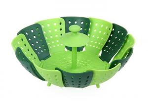 China Home Kitchen Silicone Steamer Basket , Folding Non Scratch Silicone Vegetable Steamer on sale