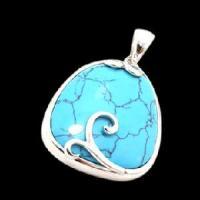 Fashion Designer 925 Silver Semi Precious Stone Pendant (PSK9006)