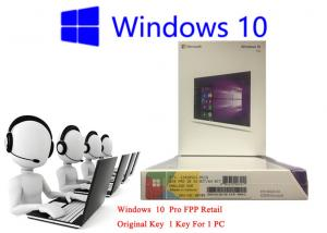 China 32bit / 64bit Windows 10 FPP Retail Box Korean International PC 3.0 USB Online Activation on sale