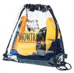 Stylish PVC Drawstring Bag Water Resistant 34*40CM With Non Toxic Material