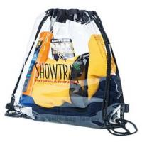 China Stylish PVC Drawstring Bag Water Resistant 34*40CM With Non Toxic Material on sale