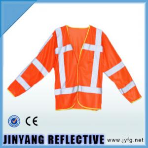 China material reflexivo del chaleco de la seguridad: color 100% del poliéster: tamaño rojo (cm): 69 (L) X62 (W) on sale