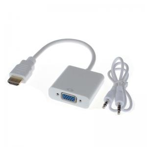 China HDMI Male to VGA Converter Adapter With Audio USB Cable 1080P for PC on sale