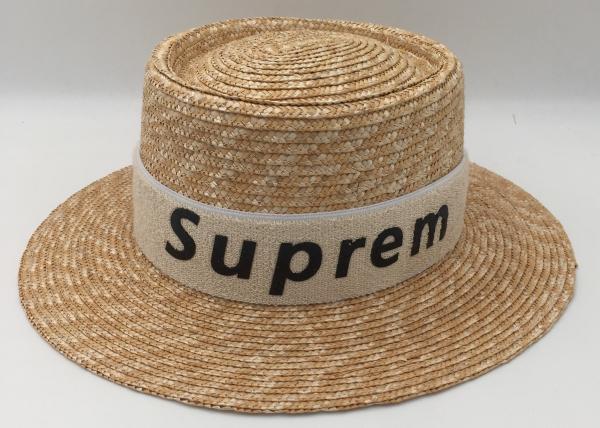 0e8c60c5c Women Summer Beach Sun Hats Brand New Flat Top Straw Hat Men Boater ...
