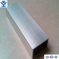 China Top quality silver anodized extruded aluminum square pipe with different size on sale
