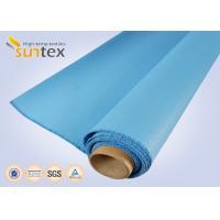 0.8 Mm Or OEM Blue Fire / Heat Resistant Fiberglass Cloth To Europe 1000 G/Sqm