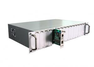 China 19'' 2U Rack Mount Fiber Optic Media Converter 16 Port Optical To Ethernet Converter on sale