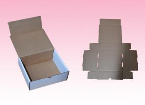 China custom white corrugated paper cardboard box for business cards packaging on sale