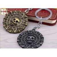 China Skull Shaped Personalised Metal Keyrings /Keychain Ring Holder For Collections Gifts on sale