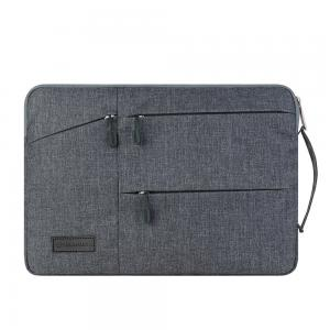 China Light Weight Business Laptop Bags Waterproof Nylon Velvet Lining For 12 13 15 17 Inch Notebook on sale