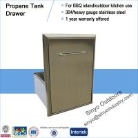 Roll-Out Propane Tank Storage Bin For Barbecue Island