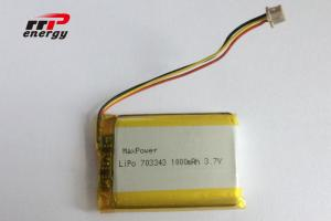 China Polymer High Power Lipo Battery 703343 1000mAh 3.7V High Temperature BIS UN38.3 on sale