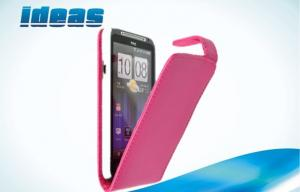 China Rose Flip HTC Leather Phone Case , HTC EVO 3D G17 Mobile Phone Leather Case on sale