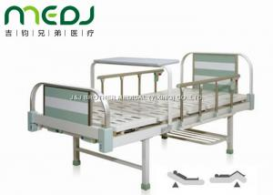 China MJSD05-08 Manual Hospital Bed , Two Cranks Adjustable Hospital Beds With Dinning Table on sale