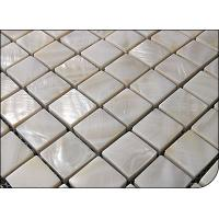 China 6MM thickness white mother of pearl mosaic on sale