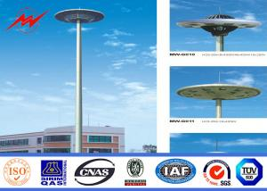 China SGS 25m 3 Sections HDG High Mast Lighting Pole 15 * 2000w For Airport Lighting on sale