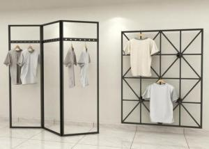 China Fashionable Style Clothing Display Rack / Metal Retail Clothes Display Stands on sale