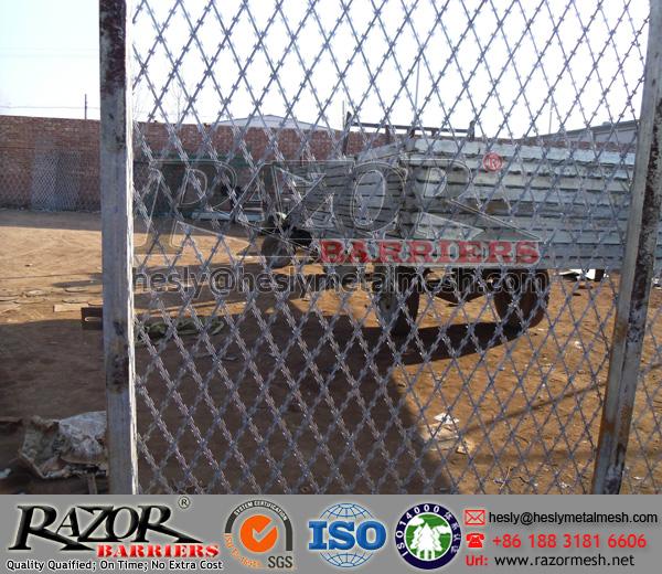 straight razor wire fencing