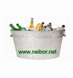 China large galvanized steel  metal oval beer bucket oval tub oval basin beer cooler 40Litres on sale